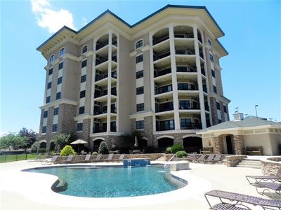 Photo for A Great Escape - Luxury Ground Level Condo with Great View located Next To Bridgewater Plaza with a Pool!
