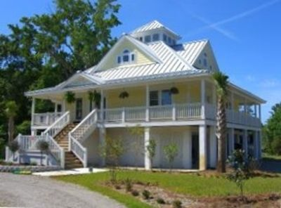 Photo for Elegant Raised Beach House, 3 Blocks from the Beach Dog Friendly with Golf Cart
