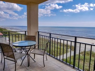 Photo for Stunning Oceanfront 3 Bedroom 2 Bath Condo. Outdoor pool, Wi-Fi.  New flooring. New flat screen TVs New tiled patio!