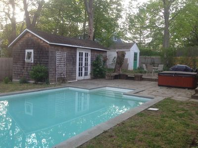 Photo for RATES JUST REDUCED: Greenport Village Victorian w/ Pool, 1 block to beach