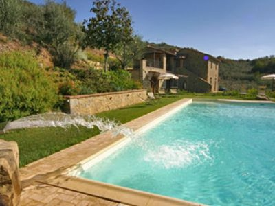 Photo for old farmhouse with swimming pool and a beautiful view over the Val di Chiana