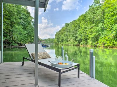 Photo for Resort-Style Tims Ford Lake Home - Steps to Dock!