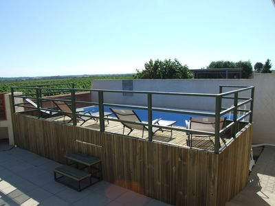 Photo for beautiful family home with pool and beautiful views of the vineyards