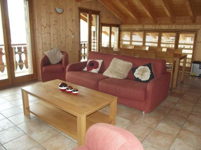 Photo for 2-Bedroom apartment 4* with mezzanine for 6-8 people, situated at about 1km from the gondola lift an