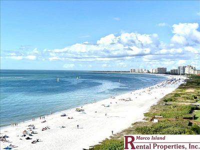 Photo for Sea Winds 1001; BEACHFRONT condo overlooking Marco's South Beach. Free Wifi and Telephone. TV in each bedroom!