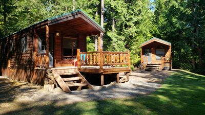 Photo for Cabins at Treefrog Woods , Port Townsend. Includes (2) private vacation cabins