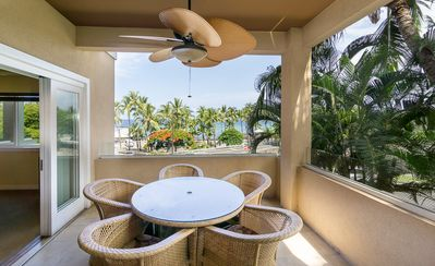 Photo for Amazing ocean front two bedroom, two bathroom condo, 1-203 (2) The Beach Villas at Kahaluu, In Kailua-Kona.