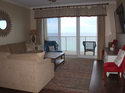 Photo for Incredible Views from this beachfront 10th floor 3 bed/2 bath Unit!