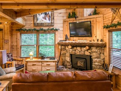 Photo for Save 10% on Summer Stays   Idyllic Log Cabin tucked among the pines; ideal for Couples