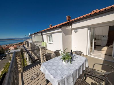 Photo for Two bedroom apartment with terrace and sea view Crikvenica (A-12116-d)