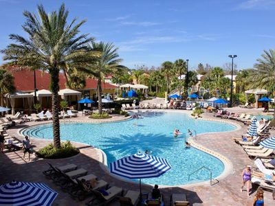 Photo for DISNEY GROUP ESCAPE, 4x2BR APTS FOR 24! LAZY RIVER, WATER SLIDES, TENNIS!