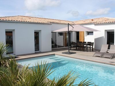 Photo for NEW VILLA WITH HEATED SWIMMING POOL LES MATHES LA PALMYRE