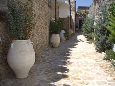 Photo for This 2-bedroom villa for up to 4 guests is located in Kalamaki (Crete) and has a private swimming po