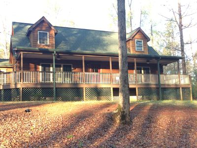 Photo for Spring Show Special! 10 Minutes to TIEC!  Woodcreek Cabin on 36 private acres