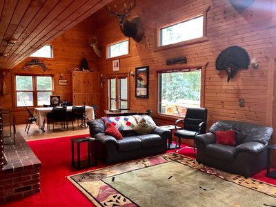 Photo for PREMIER, SECLUDED LODGE IN PRIME LOCATION NEAR WORLD FAMOUS PERE MARQUETTE RIVER