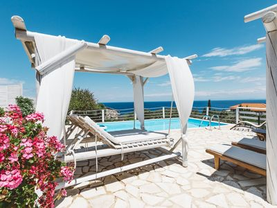 Photo for ORFOS  VILLAS WITH PRIVATE POOL AND AMAZING SEE VIEW-SLEEP 4