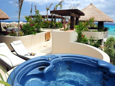 Photo for Winner of Top 25 in Luxury in All of Mexico -PH 2/2 Jacuzzi BBQ Beach Club Promo #7