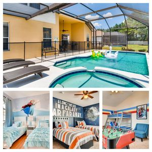 Photo for 6 bed Rm House with Private Pool -Themed Rms/3miles to Disney (Windsor Palms Resort)