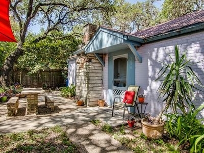 Photo for Soco Bungalow off South Congress - Location! Trees and Quiet Comfy for 2