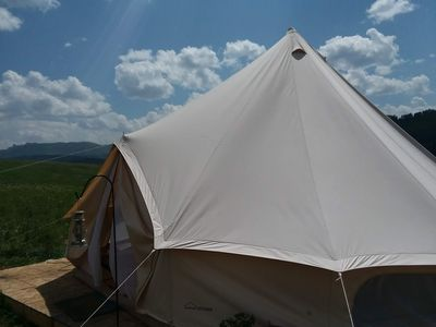 Photo for Beautiful, spacious 20 foot diameter tent w/ 13 foot ceiling.