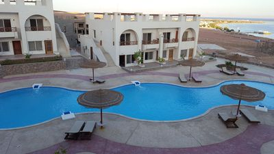 Photo for Half Moon - Sunny Dahab  Sea view resort chalet with free S.pool  &mountain View