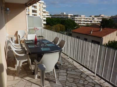 Photo for Frejus Plage T3 70 m2 (2 separate bedrooms) gde terrace, 400m from the beach