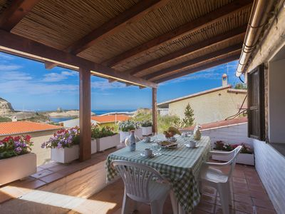 Photo for Villa with panoramic sea view terrace and garden for 7 people
