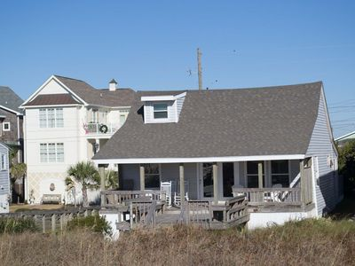 Photo for OCEANFRONT COTTAGE WITH COVERED DECK. EASY BEACH ACCESS