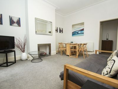 Photo for Norton Apartment: 2 bedroom, sleeps 7, in heart of Hove with bars and cafes on doorstep, wifi