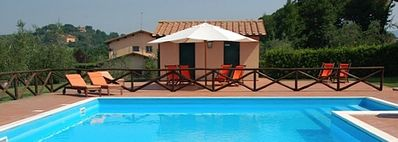 Photo for Villa Darmassina A: A splendid and luminous two-story apartment that is part of a villa surrounded by meadows and by green hills, with Free WI-FI.