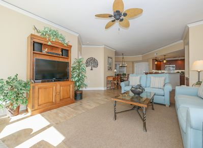 The Living area at 5303 Hampton Place includes a 42 inch flat panel TV and DVD