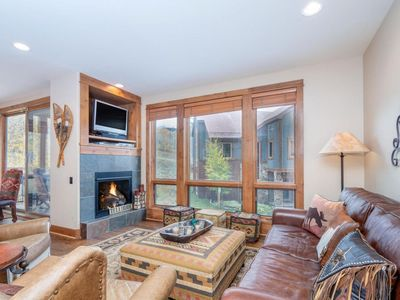Photo for SUMMERTIME IN THE  MOUNTAINS!  Corner Terrace  2BR/2Bth DECK, FIREPLACE, GARAGE