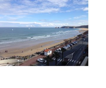 Photo for Apartment Hendaye Plage (64) - ocean view