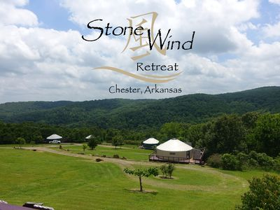 Photo for Relax in a Yurt Atop the Ozarks with Private Hot Tubs Near Fayetteville