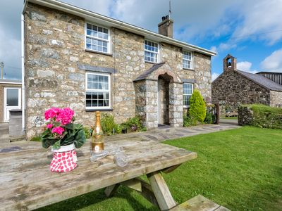 Photo for In a rural location near the renowned surfers beach of Hell's Mouth, this traditional Welsh cottage