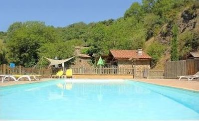 Photo for Chalet 4 In a quiet pool and river in the Ardèche.