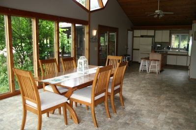 You will appreciate our fully equipped kitchen and spacious dining area!