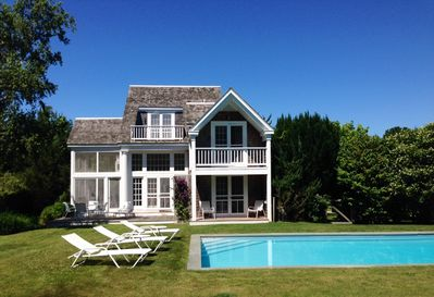 Heated pool  and rear of house
