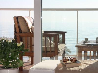 Photo for Fabulous and romantic apartment facing the sea. Feel the breeze of the Mediterranean