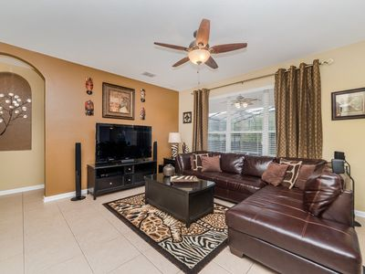 Photo for South Facing Pool, Minutes To Disney, Private Pool/Spa, Game room Free Amenities