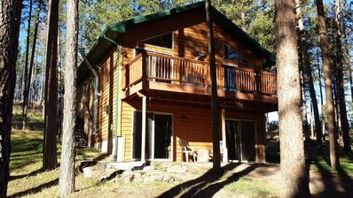 Photo for Modern Black Hills home nestled in the pines near beautiful Pactola Lake