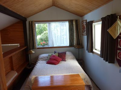 Double bed, double glazed and insulated, providing a quiet place to rest.