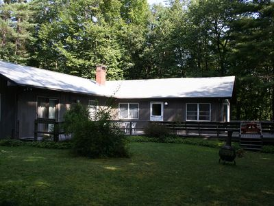 Photo for Secluded Private Home Right on Saco River in North Conway.