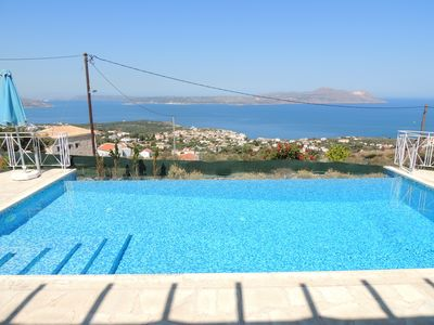 Photo for Gorgeous 4 Bedroom Villa with Fantastic Sea Views, & Infinity Pool with heating.