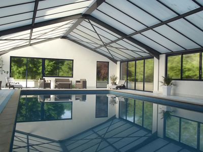 Photo for THE VEDIERES HOUSE WITH HEATED COVERED SWIMMING POOL AND DEPENDENCY