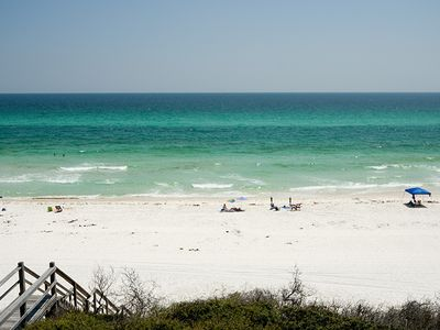 Photo for Ocean Front! Private Beach Short walk to Rosemary/Alys- Bikes chairs pool