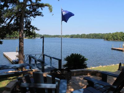 Photo for Lakefront, dog-friendly home with a dock and a wrap-around deck!