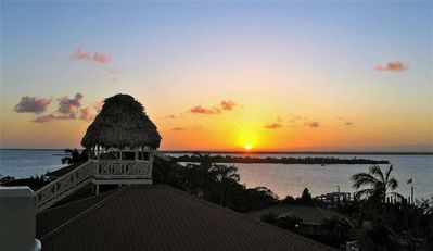 Nightly event from rooftop palapa