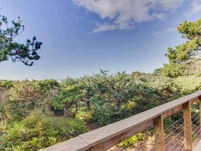 Photo for Oceanfront, dog-friendly house w/ ocean views & private trail to the beach!