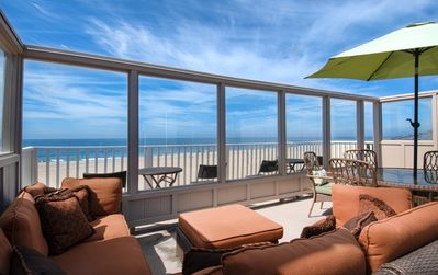Photo for Spectacular oceanfront upper unit with amazing views from awesome roof top deck!
